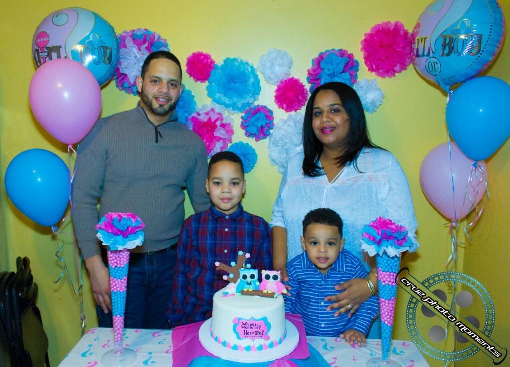 family photo at a birthday party